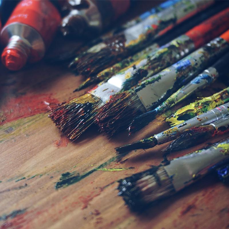 L'atelier de Josée - Transfert d'image et peinture acrylique